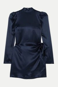 Reformation - Josefine Silk-charmeuse Mini Dress - Navy