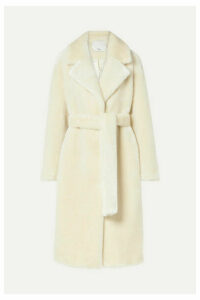 Tibi - Oversized Belted Faux Fur Coat - Cream