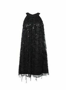 Womens **Showcase Black 'Tess'A Sequin Trapeze Dress, Black