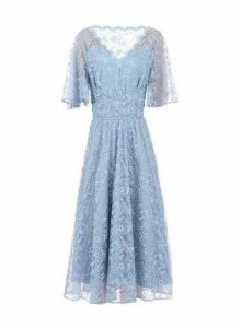Womens *Jolie Moi Blue Lace Midi Dress, Blue