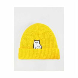 RIPNDIP Lord Nermal Rib Beanie - Gold (One Size Only)