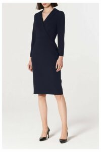Womens L.K. Bennett Blue Effie Collar Dress -  Blue