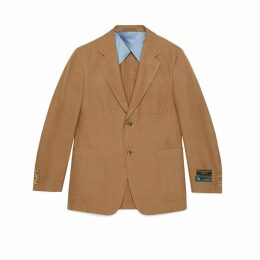 Palma viscose linen jacket with labels