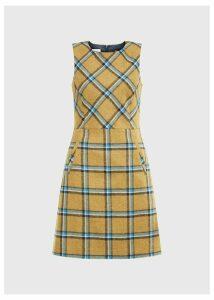 Hattie Wool Dress Mustard Multi