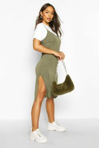 Womens Jersey Slip Midi Dress - green - 16, Green