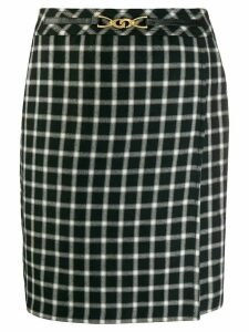 Céline Pre-Owned 1980 check skirt - Black