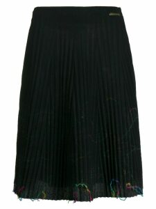 Versace Pre-Owned 1990s thread embellishments pleated skirt - Black