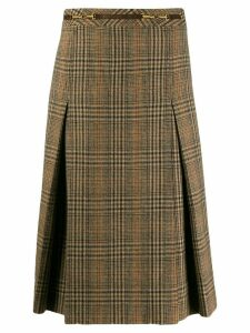 Céline Pre-Owned 1970 check skirt - Brown