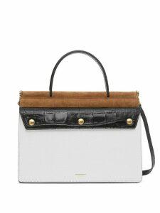 Burberry small Title tote bag - White