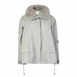 Yves Salomon Short Fur Trim Jacket