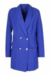 Womens Premium Longline Blazer - blue - 16, Blue