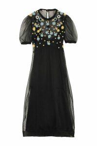 Miu Miu Embroidered Tulle Dress