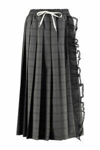 Miu Miu Lace Detail Pleated Skirt