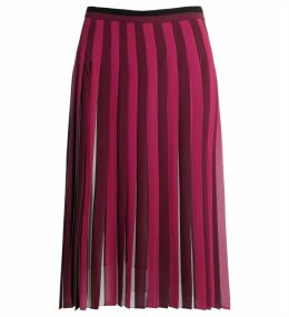 Michael Kors Pleated Skirt In Multicolor Fabric