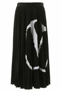 Valentino Vlogo Pleated Skirt
