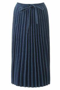 RED Valentino Pleated Denim Skirt