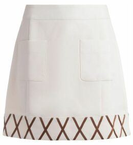 Rixo Miniskirt Kitty Model In Ivory Fabric