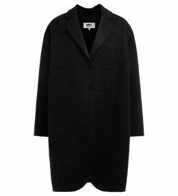 Coat Over Model Mm6 Maison Margiela Black