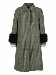 Prada Prince Of Wales Checked Coat