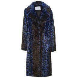 Stand Fanny Acidic Leopard Faux Fur Coat