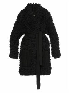 Alanui Fur Stitches Knitted Coat