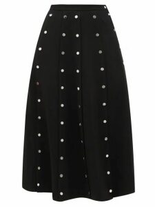 Christopher Kane - Snap-embellished Stretch-crepe Midi Skirt - Womens - Black