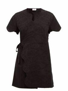 Sir - Delilah Broderie Anglaise Cotton Wrap Mini Dress - Womens - Black