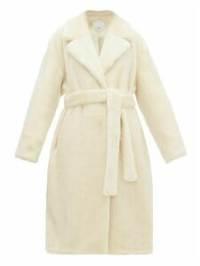 Tibi - Faux Fur Wrap Coat - Womens - Cream