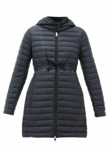 Moncler - Barbel Drawstring-waist Padded Coat - Womens - Navy