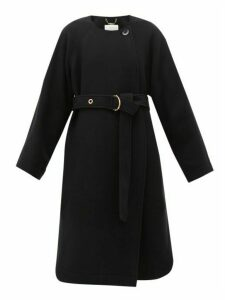 Chloé - Festive Belted Wool-blend Coat - Womens - Navy