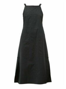 Lee Mathews - Workroom Side Slit Cotton Poplin Dress - Womens - Black