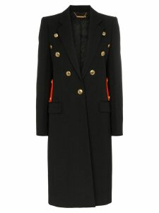 Givenchy contrast martingale button detail coat - Black