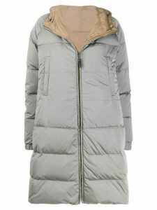 Max Mara reversible padded hooded coat - Grey