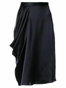 Nehera asymmetric drape skirt - Blue