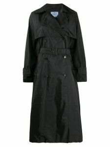 Prada long belted trench coat - Black