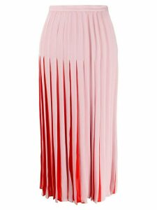 Valentino two-toned pleated skirt - PINK