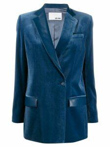 Each X Other double breasted velvet blazer - Blue