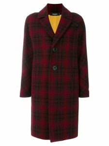 Dsquared2 checked single breasted coat