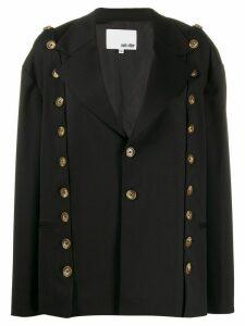 Each X Other button detail blazer - Black