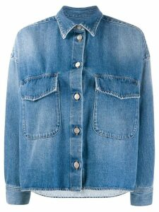 Mm6 Maison Margiela boxy denim blazer - Blue