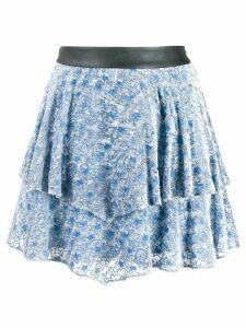 Zadig & Voltaire paisley print tiered skirt - Blue