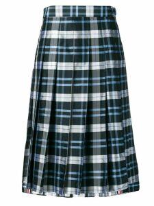 Thom Browne Thom Browne Tartan Silk Skirt - Blue