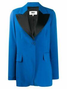 Mm6 Maison Margiela contrast lapel blazer - Blue