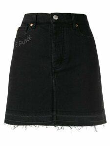 Zadig & Voltaire Juicy embroidered denim skirt - Black