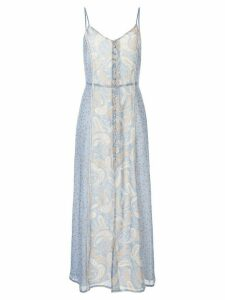 We Are Kindred Amalfi paisley-print slip dress - Blue
