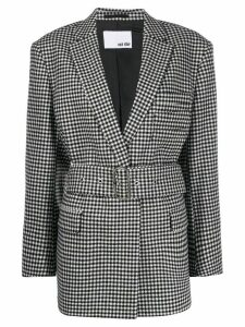 Each X Other checked oversized blazer - Black