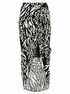 Veronica Beard Ari animal print skirt - Black