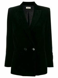 Zadig & Voltaire Visko velvet blazer - Black