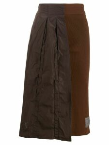 A-Cold-Wall* Half Pleat asymmetric skirt - Brown