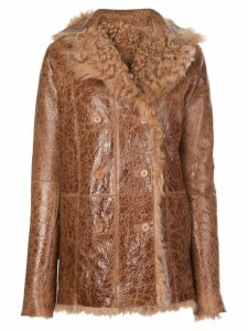 Sies Marjan Pippa reversible shearling coat - Brown